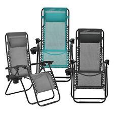 [en.casa] Liegestuhl Relaxstuhl Campingliege Gartenliege Sonnenliege Stuhl Liege