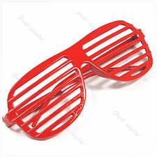 Full Shutter Glasses Shades Sunglasses Club Party Red