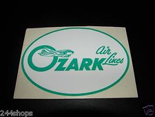 """OZARK AIR LINES - DECAL - 3 1/2"""" OVAL - NEW"""