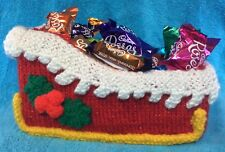KNITTING PATTERN - Christmas Santa Sleigh - Sweet / doll /  elf on the shelf