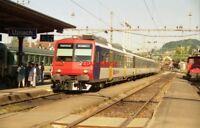 PHOTO  SWITZERLAND UZNACH 1995 TRAM SBB