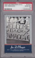 JOE DIMAGGIO 2001 UPPER DECK PINSTRIPE #JD31 PSA GEM MINT 10 GRADED