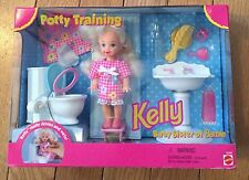 (New) Barbie Baby Sister Kelly Potty Training Playset Drinks and Wets