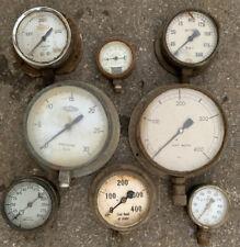 Set Of 8 X Vintage Industrial Pressure Guages FLOYD WATKINS MacPHERSONS