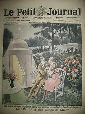 ROYAUME-UNI CAMPING POUR LUNE DE MIEL CRISE DU LOGEMENT LE PETIT JOURNAL 1920
