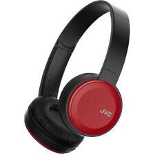 Auriculares rojos con conexión Bluetooth para audio portátil
