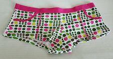 Multicolor Boyshort Panties with Pink Trim  Size Medium  10073