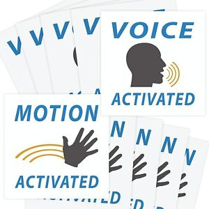 [50 Pack] Voice & Motion Activated Prank Stickers Value Pack by Witty Yeti