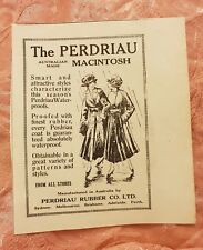 Perdriau Rubber Macintosh 1920 Advertisement