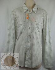 Hugo Boss Orange Mens Striped Button Down Shirt Size XL (50259639 316), NWT