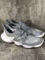 Men's Nike Free RN 5.0 Wolf Grey White Running Shoes AQ1289-001