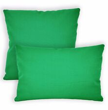 Aw14a Light Green High Quality 12oz Cotton Cushion Cover/Pillow Case Custom Size