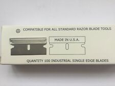 20 X USA single edge razor blades 0.23mm thick carbon fits USA window scraper