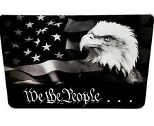 WE THE PEOPLE WITH EAGLE, BILLET ALUMINUM TRAILER HITCH COVER PLUG 4X6