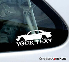Custom Text ,LOW Mercedes W124 Saloon E-Class 320 / 300 D / 220 e Sticker,decal