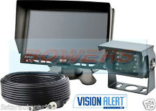 "VISION ALERT GEMINEYE ECCO K7000B 12V24V 7"" LCD REVERSING REVERSE CAMERA KIT"