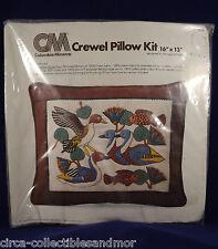 Columbia Minerva Crewel Pillow Kit Egyptian Water Fowl Duck Fish Margot Johnson