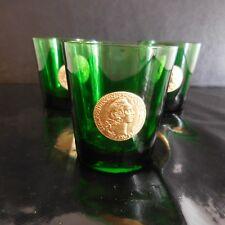 N2787 3 verres à eau DUBONNET pièce Louis or vintage art déco design PN France
