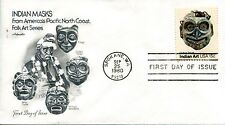 1980 INDIAN ART HEAD MASKS THIS IS BY THE CHILKAT TRIBE ARTMASTER UNADDR  FDC
