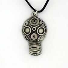 ENGLISH PEWTER - GAS MASK - PENDANT NECKLACE STEAMPUNK