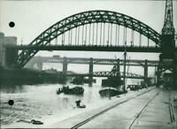 The three bridges over the River Tyne at Newcastle - Vintage photograph 3440397