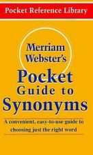 Merriam-Webster's Pocket Guide to Synonyms (Pocket Reference Library) by Merria
