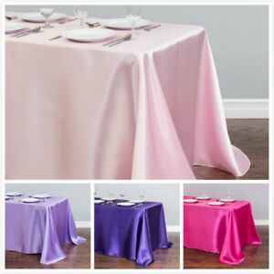 LinenTablecloth 90 x 156 in. Rectangular Satin Tablecloth 32 Color Wedding Party