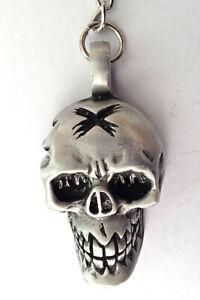 Gothic Skull Pewter Keyring Mens Womens Boys Girls  40mm  KR0216