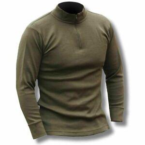 Army thermal fleece  Zipped Green  Shirt Norgie Style Long Sleeve Base Layer Top