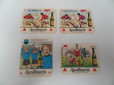 lot de 4 sous bock bierviltjes Apollinaris football Club Brugge Beerschot