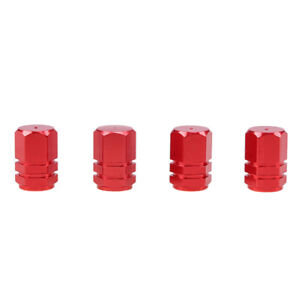 4Pcs Aluminum Car Motorcycle Bike Wheel Tire Valve Caps Tyre Rim Stem RED