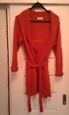 """JUST ELEGANCE"" ladies cardigan, belt,size M/L, orange,new no tag,woolen"