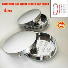 4Pcs 56mm Universal Car Wheel Center Caps Hub Tyre Rim Hub Cap ABS Chrome Cover