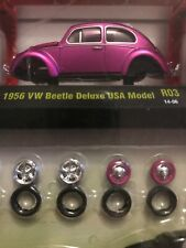 M2 Machines Model-Kit 1956 VW BEETLE DELUXE USA MODEL∞Hot Pink VOLKSWAGEN Bug❀