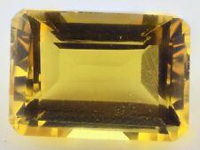 UNUSUAL 14x10mm OCTAGON-FACET NATURAL BRAZILIAN GOLDEN CITRINE GEM (APP £273)
