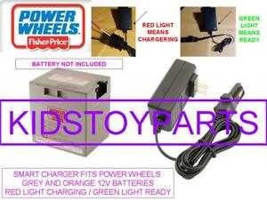 SMART Charger 12 Volt 12V  for Power Wheels 00801-1869 Grey Battery Fisher Price