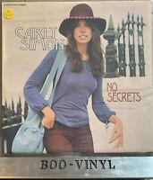 Carly Simon - No Secrets - UK Vinyl Original  K42127 EX+ / EX Con