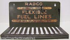 Orig 1930-40s RADCO Flexible Fuel Lines Auto Parts Store Display Rack Metal Sign