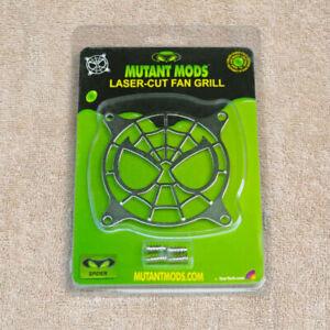 Mutant Mods 80mm Silver Chrome Laser-Cut Fan Grill - Spider