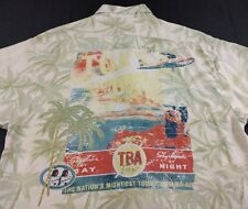 Tommy Bahama Graphic Silk Button Front Shirt Large L Floral