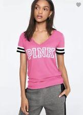 Victoria's Secret PINK Perfect V-neck Tee Shirt ~ Size Large