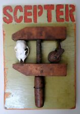 "Jeff Brown artwork found object assemblage collage unique ""SCEPTER"""