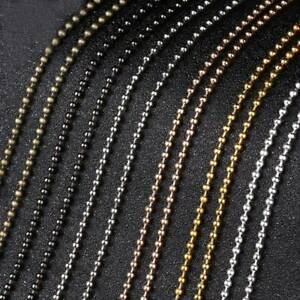 Wholesale 5meters Iron Metal Ball Bead Chains 1.5mm/2.4mm Gold/Silver/Bronze DIY