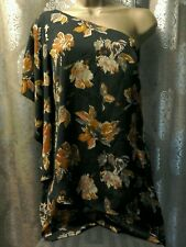 Topshop one shoulder playsuit size 10 cape sleeve all in one