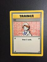 Bill Trainer Base Set PSA 91/102 Pokemon Good Condition-Rare!