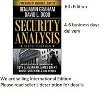 Security Analysis by Benjamin Graham, 6TH  ED.