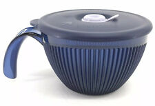 Tupperware Vent N Serve Microwave Soup Mug Indigo Blue 2 Cup Bowl #5201 New