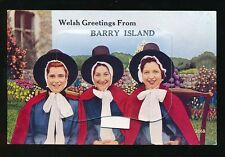 Wales Glamorgan Glam BARRY ISLAND National Dress Pocket Novelty c1950/60s? PPC