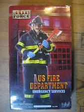"1/6 12"" 30 cm GI JOE ACTION MAN  BLUE BOX  US FIRE DEPARTEMENT EMERGENCY SERVICE"