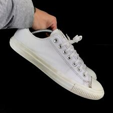 Mens CONVERSE All Star Chuck Taylor Low Leather - Triple White - US11/UK9/EU42.5